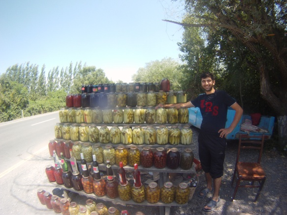 Azerbaijanis are into their compote, here is a road side assortment