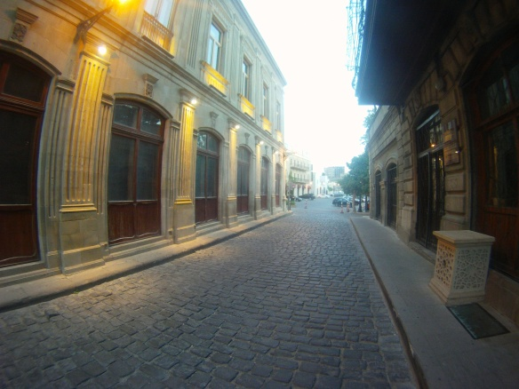 An predawn stroll through Baku's old city