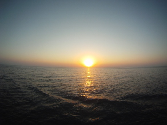 Caspian Sea sunset
