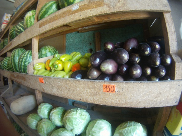 I have never been so happy to see fruits and vegetables! The only produce market in 500 miles. Beyneu