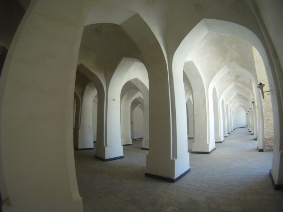 Corridors inside Mosque, (This mosque was so similar in design to the Mosque seen years earlier in Turpan, Xinjiang)