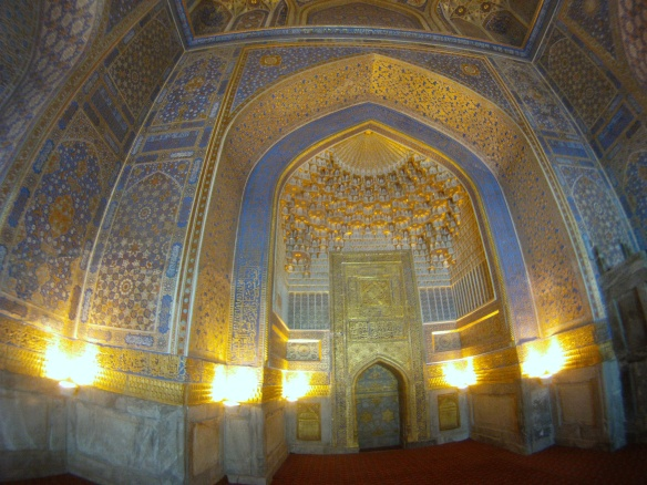 Inside the Registan, Samarkand
