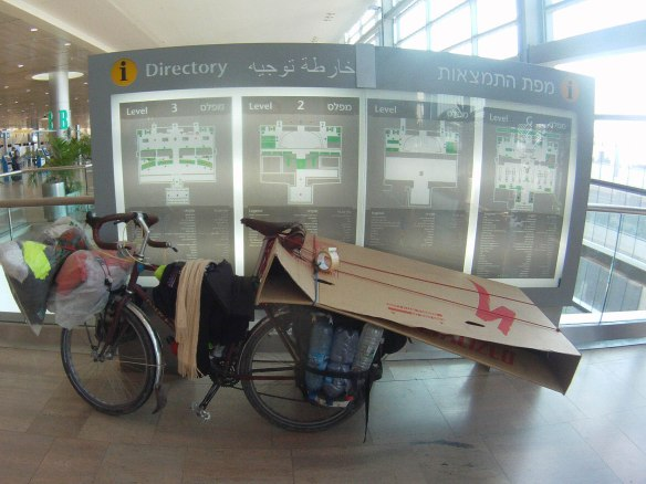 A quick reflection of the difficulties of traveling with a bicycle