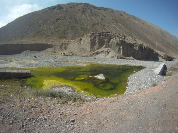 Remote moss lake found while hiking the Pamirs