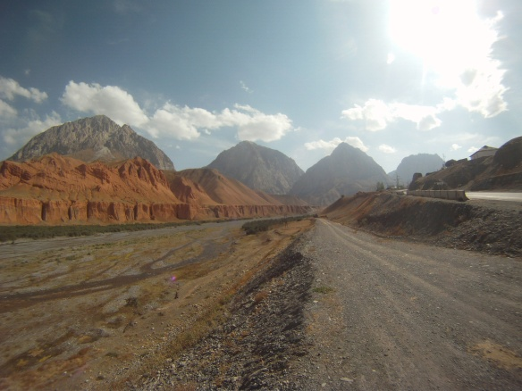 Deep valleys and long canyons on the road to the Pamirs