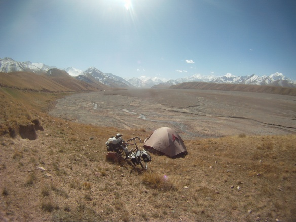 Camping spot here the base of the Pamirs