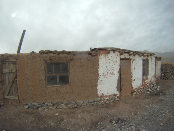 One of the many abandoned mud houses near the coal mine
