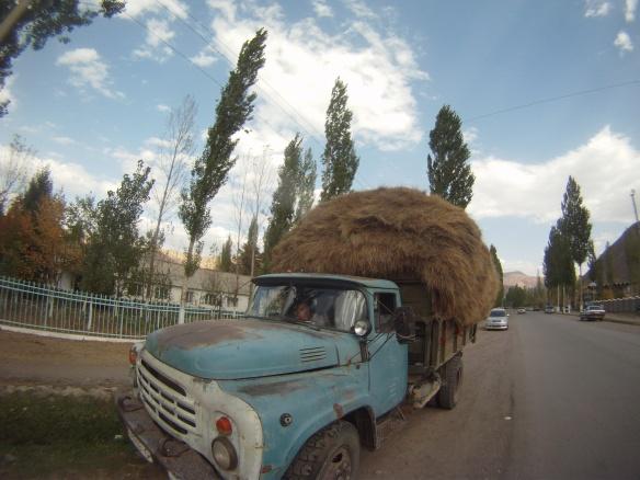 Tajikistan truck full of wheat heading for Osh