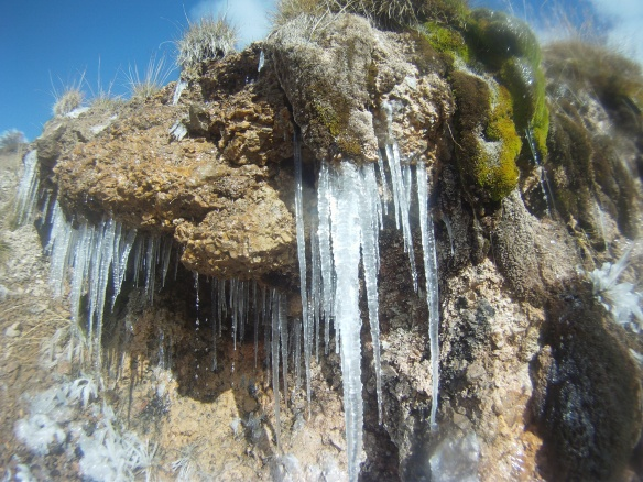 Icicles at the top of the pass