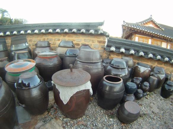 Old style Kimchi ceramic pots