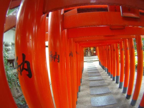 Walking to the shrine, Fukuoka