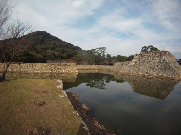Moat at Hagi castle