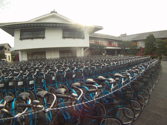 Lot of a few hundred bikes supplied to employees at a steel factory, Kitakyushu