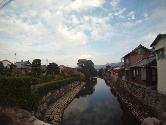 Houses on the canal, Hagi port