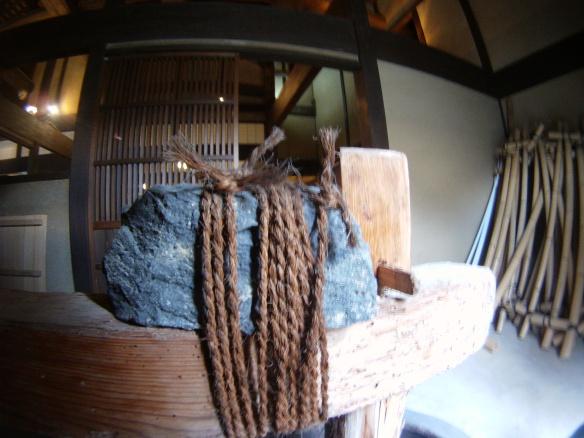 Old fashioned grain grinder found in village near Hagi