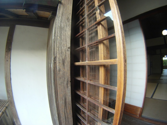 Wooden sliding glass doors
