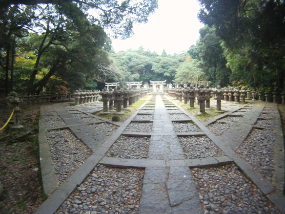 Royal cemetery behind Toko-ji temple Hagi