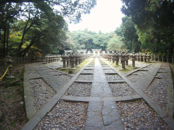 Royal cemetery behind Toko-ji temple Hagi