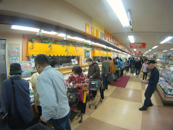 Everyone is polite and respectful until discount sushi time. 5 pm at supermarket everyone jams and grabs 1/2 priced sushi