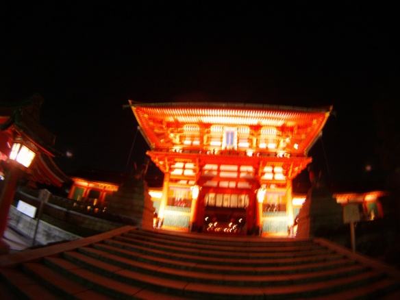 Shrine just after dark