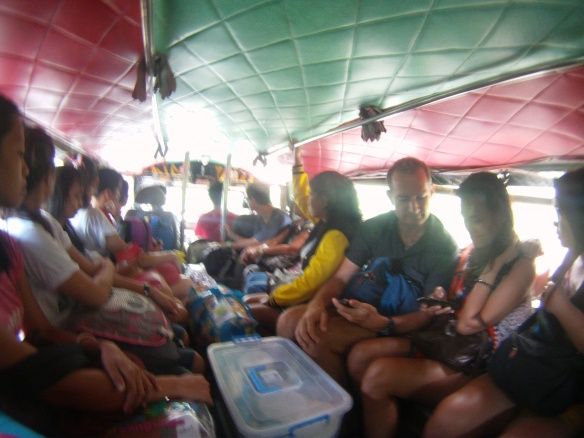 Taking the local jeepney to Tamaru falls