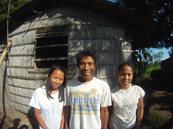 My rice farmer hosts 30 km north of the port city Roxas