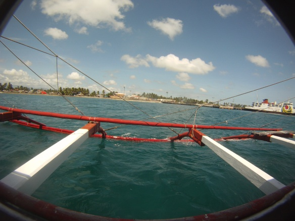 Leaving the Roxas port, a rough 3 hours at sea to Tablas island