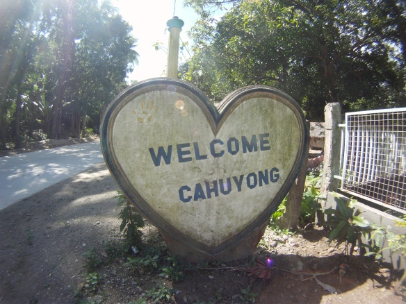 Welcoming sign to one of the many Barangays