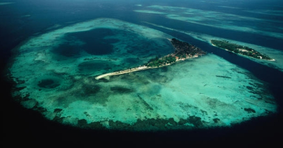 Aerial view of Derawan Island