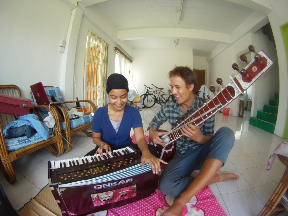 My Sikh friend Jas teaching me a few Indian songs