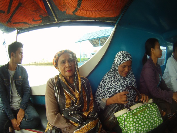 Local ladies on the speed boat to Tanjung Selor