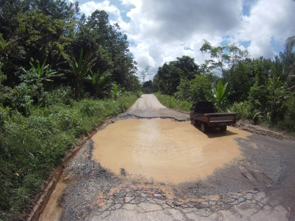 A puddle roads of Kalimantan