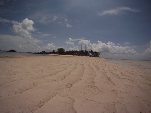 Derawan Island during low tide