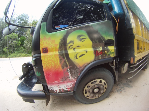 Local Bob Marley Van. People love Reggae here!