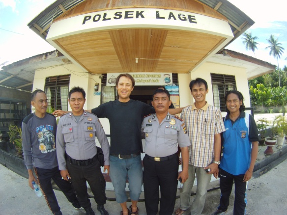 Police force Poso, The chief to my left was a classic Asian alpha male! He bossed everyone around then gave me one of his rings