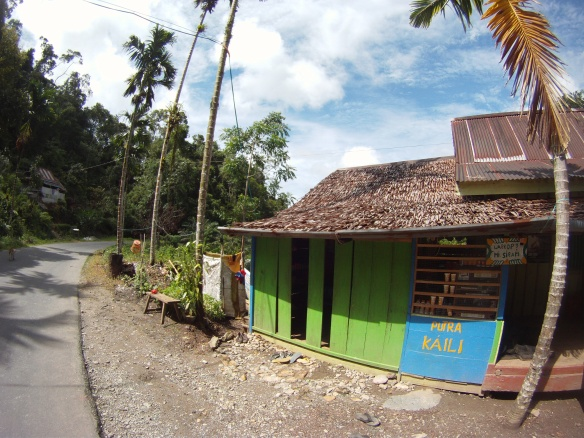 """Warung"" or local restaurant. These are found along the road and serve instant noodles, fried rice and coffee."