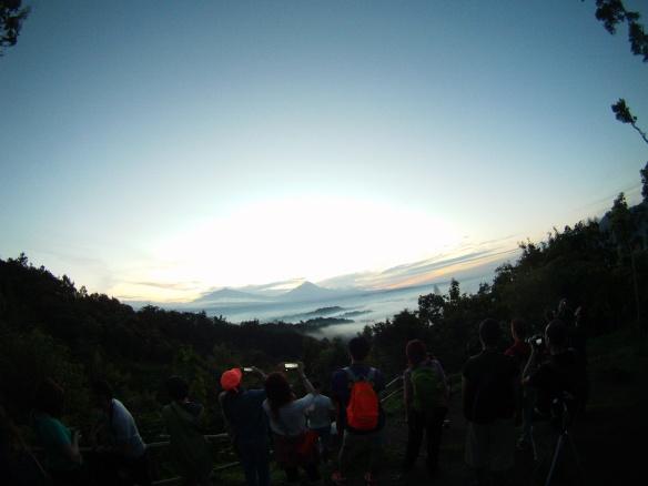 Sunrise above Borobudur