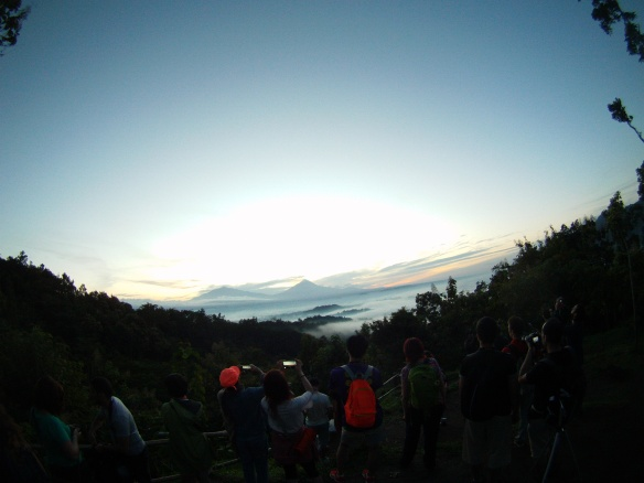 Sunrise above Borobudur