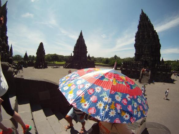Ancient Hindu temples of Prambanan, just outside Yogyakarta