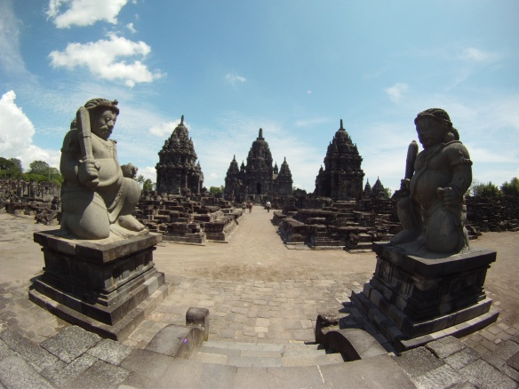 Entrance to Sewu, 2nd in size to Borobudur. This Buddhist temple was built right next door to he Hindu temples of Prambanan