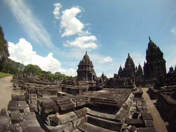 Sewu temple. When walking the grounds I remembered visiting the site as a child at my fathers side.