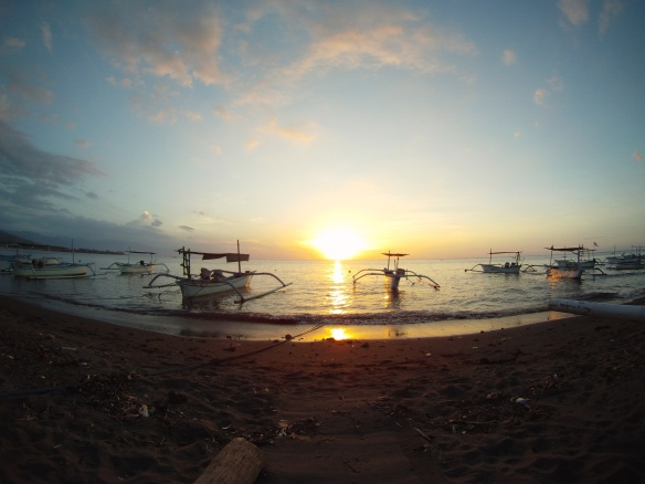 Sunset Lovina beach, Bali