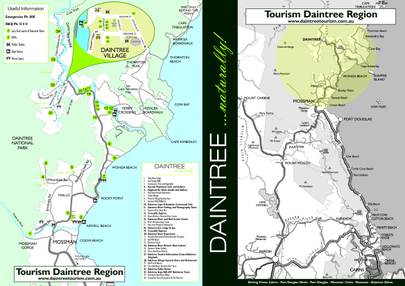 Daintree National forest is in the North East tip of Australia's state Queensland (QLD). Think of Australia like a camel, cut into 7 states