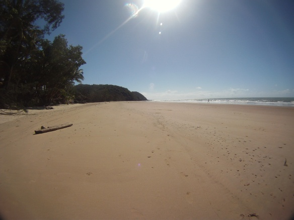 I had one day of sunshine and spent in on this beach in Cow Bay