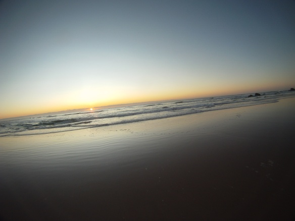 Winter in the southern hemisphere: sunrise 7 am sunset 5 pm.  A nice morning spent on Pottsville's less populated beaches.