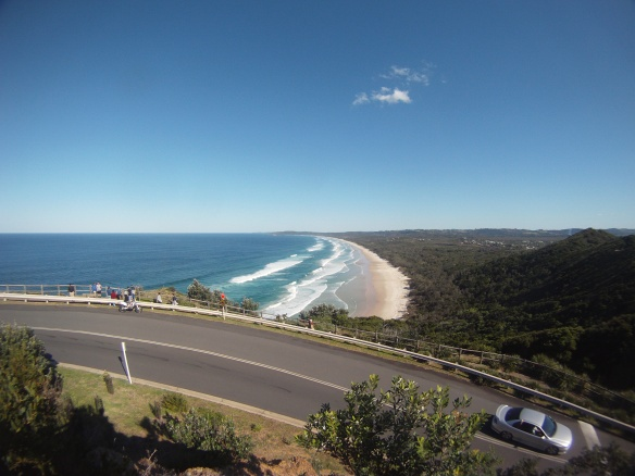 Southward view from Australia's eastern most point. A steep climb to Byron bay's historic Light House.