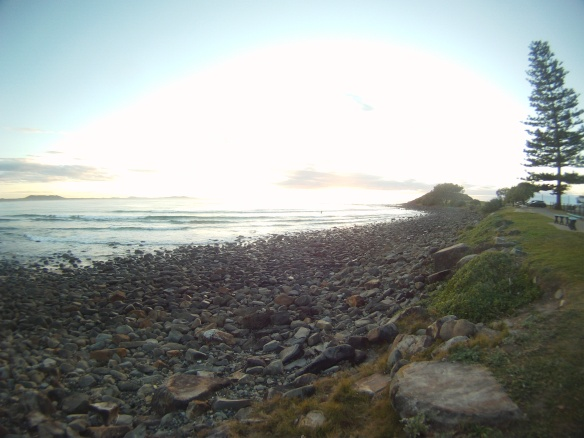 I guess if I lived next to coastline like this I would also want it all to myself. Sunrise Crescent Head beach, NSW