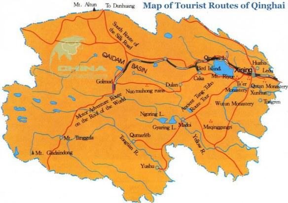Qinghai-Adventure-Routes-Map